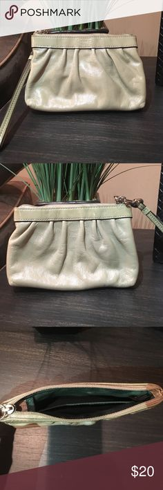 Coach patent nude wristlet COACH patent nude wristlet.  Gently used, great condition.  Offers accepted! Coach Bags Clutches & Wristlets