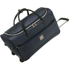 Anne Klein Oslo Navy 22-inch Carry On Wheeled Duffle Bag