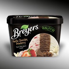 Breyers® - Original - Vanilla, Chocolate, Strawberry