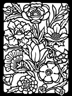 This black and white flower faux decorative window film applique can be created and colored to match your decor. Description from decorative-films-by-maryanne.com. I searched for this on bing.com/images
