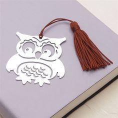 Laser-Cut Metal Owl Bookmark
