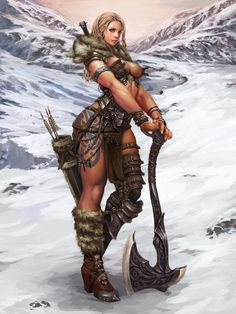 Yes, because all Norse women were scantily clad in the snow.  Big weapons, exposed beasts = fail.