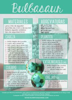 Best 12 Shared with Dropbox – SkillOfKing. Pokemon Crochet Pattern, Crochet Amigurumi Free Patterns, Crochet Dolls, Amigurumi For Beginners, Crochet Symbols, Cute Crochet, Stuffed Toys Patterns, Crochet Projects, Bulbasaur