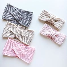 Neuen Alle : Merino dressings in stock and on order for . Diy Headband, Knitted Headband, Crochet Beanie, Crochet Bows, Crochet Gifts, Crochet Yarn, Baby Hats Knitting, Knitted Hats, Knitting Patterns