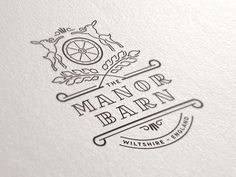 'The Manor Barn' - A beautiful branding design by Joe White // Typography Letters, Typography Logo, Graphic Design Typography, Hand Lettering, Corporate Design, Logo Branding, Ink Logo, Logo Simple, Farm Logo