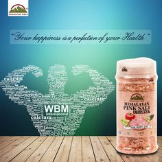 your happiness is a perfection of your health‪ #‎pinksalt‬ ‪#‎himalayanpinksalt‬ ‪#‎health‬