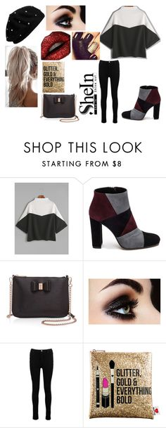 """""""Color Block T-Shirt"""" by fashion-1993 ❤ liked on Polyvore featuring Roberto Festa, Ted Baker, Boohoo, Sephora Collection, colorblock and shein"""