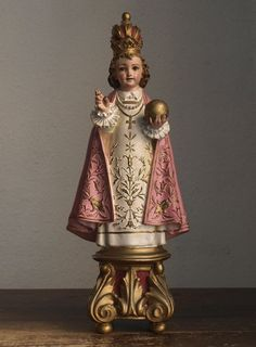 Etsy のThe Infant Jesus of Prague Antique Religious Statues Young Jesus Vintage Figure /494(ショップ名:GliciniaANTIC)