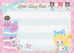 "https://flic.kr/p/qJYxJQ | Q-lia ""Little Fairy Tale"" Mini Memo (Alice in Wonderland) | 9 cm x 6.5 cm 90 sheets (2 designs) cover is a sticker 2014"