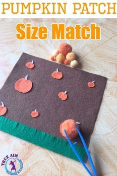True Aim shares a fun fine motor activity for your preschooler: pumpkin patch size match! This is a fun activity that your preschooler will have so much fun with! Math Activities For Kids, Autumn Activities, Motor Activities, Fun Math, Preschool At Home, Preschool Math, Preschool Ideas, Simple Math, Kids Playing