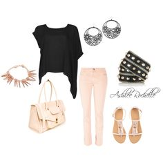 Pink and Black, created by ashlee470 on Polyvore