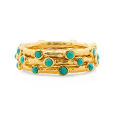 Melinda Maria Mini Lana Ring Gold / Turquoise
