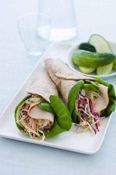 Asian Turkey Wraps: Tangy flavors collide with this innovative wrap. You'll be satisfied after tasting the assortment of vegetables and seasonings. Click through to find more easy picnic food ideas to try this summer.