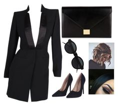 """🔪🏴"" by ralucaralucaa on Polyvore featuring Alexander McQueen and Victoria Beckham"