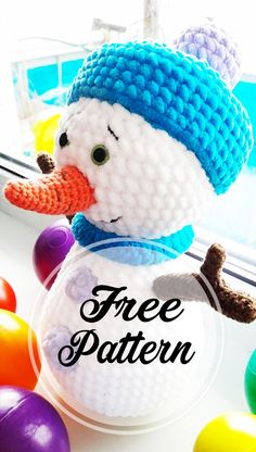 Free Crochet Amigurumi Snowman Pattern Design Ideas – Free Amigurumi Pattern, Am – Amigurumi Crochet Snowman, Christmas Crochet Patterns, Crochet Patterns Amigurumi, Crochet Dolls, Amigurumi Doll, Crochet Winter, Holiday Crochet, Stuffed Toys Patterns, Crochet Projects