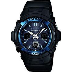 Mens Casio G-Shock Waveceptor Alarm Chronograph Radio Controlled Watch AWG-M100A-1AER