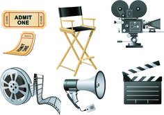 Vector set of Icons 3D movies elements 01 - Other Icons free download