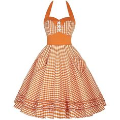 Amazon.com: Womens Retro Checkerboard Orange Dress Short Party Gowns... ($30) ❤ liked on Polyvore featuring dresses, special occasion dresses, party dresses, evening dresses, short evening dresses and short cocktail dresses