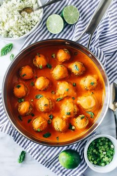 Thai Red Curry Chickpea 'Meatballs'- fresh ginger, carrots and garlic are blended with chickpeas and served with a creamy red curry sauce for a satisfying and flavorful plant-based meal. (gluten-free) Friends! How was your weekend? Did you celebrate Easter? We didn't do much for the holiday other than drive home from Charleston, where we celebrated our …