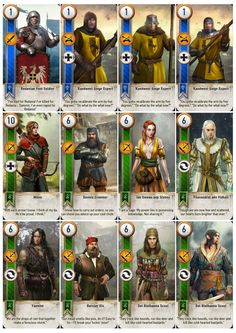 Gwent Cards in Printable A4 Sheets - Imgur