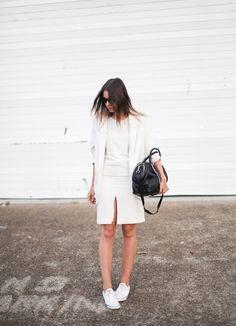 How to Wear: Sneaker Style - Center split skirt
