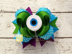 Monster Girl Hair Bow Clip  Movie Character Inspired by cococamila, $8.50