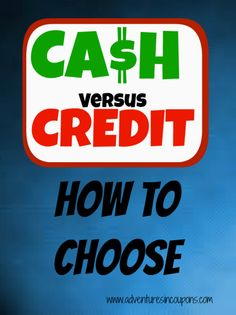 Cash versus credit can be a hard decision for anyone making a big purchase. Find out when you should use credit and when you should pay with cash!