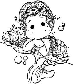 Tilda the Mermaid Colouring Pages, Adult Coloring Pages, Coloring Books, Coloring For Kids, Printable Coloring Pages, Coloring Sheets, Magnolia Colors, Marker Art, Copics