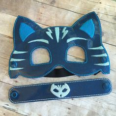 Bedtime Hero Masks inspired by PJ Masks. Masks and Bracelet