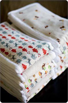 Burp Cloth tutorial @ Chickpea Sewing Studio