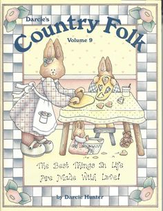 Darcie's Country Folk Volume 9 by Darcie Hunter Tole Painting Book: FI155 by PhotographyByRoger on Etsy