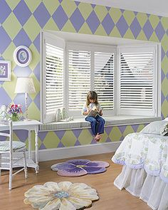 The perfect California look for any home treatment is wood shutters. Wood shutters bring an expensive and unique look to any window design. Interior Shutters, Wood Shutters, Bedroom Shutters, Custom Shutters, Window Shutters, Guest Bedrooms, Girls Bedroom, Dream Bedroom, Purple Bedrooms