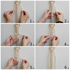 How to make your own hanging macrame planter. DIY tutorial by House Sparrow Fine Nesting. How to macrame plant hanger. How to make your own hanging macrame planter. DIY tutorial by House Sparrow Fine Nesting. How to macrame plant hanger. Diy Macrame Wall Hanging, Macrame Plant Hanger Patterns, Macrame Plant Holder, Macrame Art, Macrame Projects, Macrame Patterns, Macrame Knots, Micro Macrame, How To Macrame