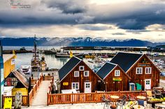 Húsavík Harbour, Iceland is about colours and contrasts. The cities are no exceptions...:-)   by Viktor Lakics