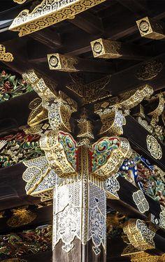 Brackets,from ancient China Castle Nijō, Kyoto, Japan Japanese Culture, Japanese Art, Japanese Geisha, Japanese Kimono, Kyushu, Nijo Castle, Design Oriental, Japanese Castle, Japan Architecture