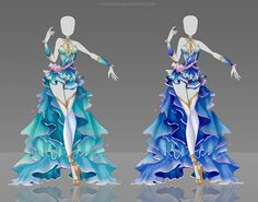 Adoptable Auction 46 OPEN by Nagashia on DeviantArt … Clothing Sketches, Dress Sketches, Dress Drawing, Drawing Clothes, Fashion Design Drawings, Fashion Sketches, Anime Outfits, Cool Outfits, Anime Dress