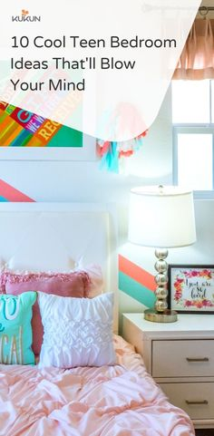 Need inspiration to decorate your kids room? We got 10 teen bedroom decor ideas that are sure to make your kid happy! #TeenBedroom #BedroomDecorating #DIYDecor