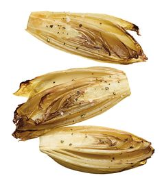 Roasted Belgian Endive Recipe by Marcella Hazan Side Dish Recipes, Veggie Recipes, Side Dishes, Healthy Recipes, Healthy Food, Belgian Endive Salad Recipe, Marcella Hazan, Endive Recipes, Mark Bittman