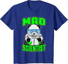 Amazon.com: Mad Scientist Panda Bear Funny Animal STEM Science Geek T-Shirt: Clothing
