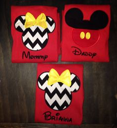 Disney vacation mouse ear shirts by BellaRagazzi on Etsy