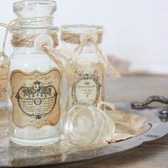 Rustic French Inspired Vintage Bottle by ClothandPatina on Etsy