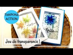 TUTO CARTES TOUT EN TRANSPARENCE ! Avec des tampons de chez ACTION - 2 exemples ! DIY Scrapbooking - YouTube Tampons, Kirigami, Scrapbooking Youtube, Action, Diy, Frame, Decor, Gaming, Paper