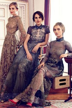 The ladies of Downton Abbey - August 2014 issue | Harper's Bazaar