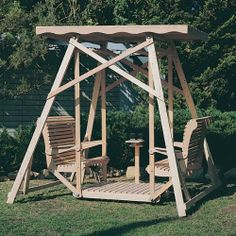 How To Build A Wooden Glider Swing - WoodWorking Projects