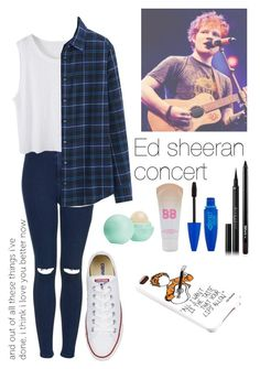 Ed sheeran concert by rosita562 on Polyvore featuring polyvore, fashion, style, Uniqlo, Topshop, Maybelline, Givenchy, M.A.C and Eos