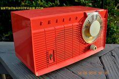 BLUETOOTH MP3 READY - Salmon Pink Retro Mid Century Jetsons Vintage 1958 Philco E-814-124 AM Tube Radio WORKS!