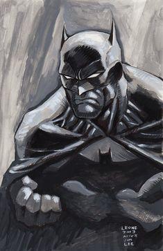 Batman After Jim Lee by myconius on DeviantArt Jim Lee, All Superheroes, Black And White Illustration, Geek Art, Sci Fi Art, Comic Artist, Dark Knight, Gotham, Cartoon Art