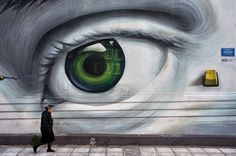 In Greece street art and politics are closely intertwined. How the crisis in Greece emerged, and how it influenced street art? 3d Street Art, Urban Street Art, Amazing Street Art, Street Art Graffiti, Street Artists, Urban Art, Protest Kunst, Protest Art, Next Wall Art