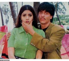 Old pic from Army(1996) SRK and Sridevi looking so cute together.  SRK's Warrior