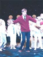 Martin Freeman dancing.